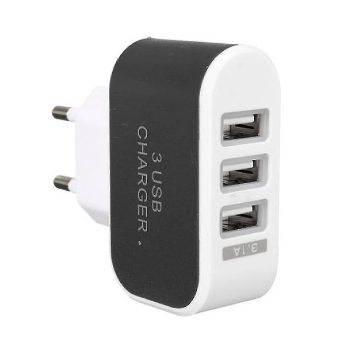 Stuff Certified® 10-Pack Triple (3x) USB Port iPhone / Android Wall Charger Home Wall Charger AC Black