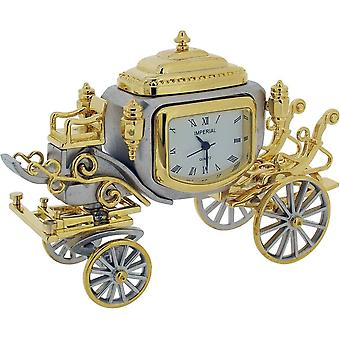 Gift Time Products State Coach Miniature Clock - Gold/Silver