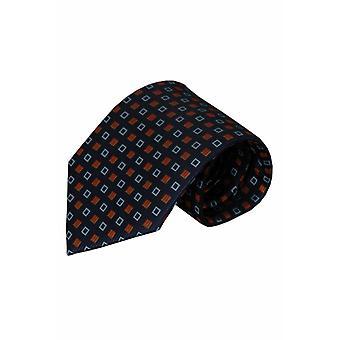 Blauwe zijden stropdas Odalengo 01