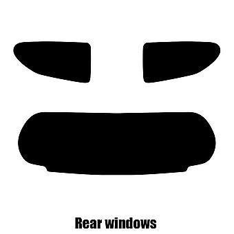 Pre cut window tint - Nissan Pixo 5-door Hatchback - 2009 to 2013 - Rear windows