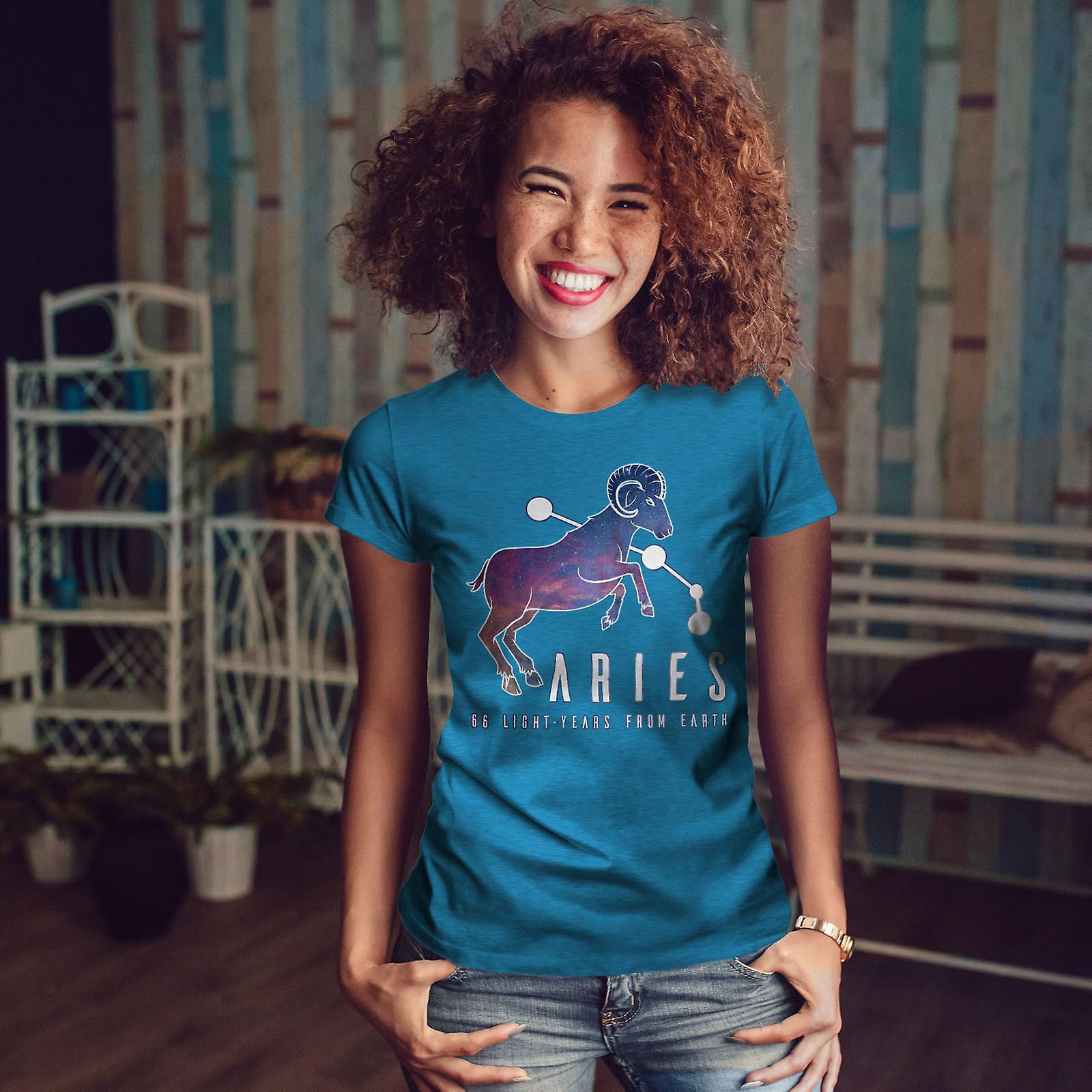 Bélier du zodiaque signe Royal BlueT-chemise femme   Wellcoda