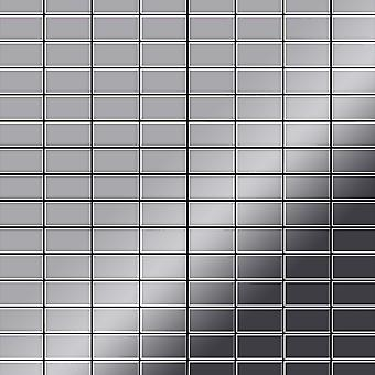 Metal mosaic Stainless Steel ALLOY Bauhaus-S-S-MM