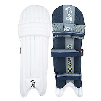 Kookaburra 2019 Nickel 3.0 Cricket Wimper Pads Leg Guards weiß/grau