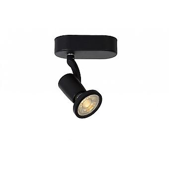 Lucide Jaster-LED Modern Oval Metal Black Ceiling Spot Light