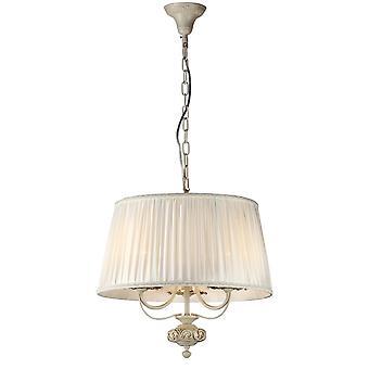 Maytoni Lighting Olivia Elegant Small White Ivory Open Shade Ceiling Pendant