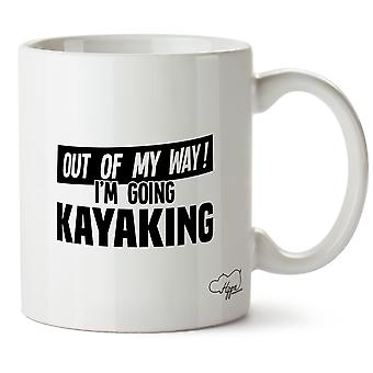 Hippowarehouse Out Of My Way I'm Going Kayaking Printed Mug Cup Ceramic 10oz
