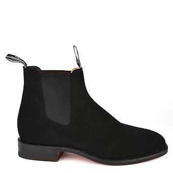 R.M. Williams Men's Craftsman Black Suede Chelsea Boot