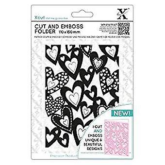 Xcut Cut & Emboss Folder Multi Hearts