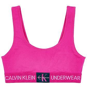 Calvin Klein Unlined Monogram Bralette - Thrill