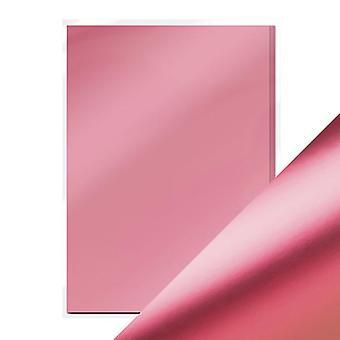 Handwerk perfekte A4 Satin Effekt Spiegel Karte rosa Chiffon Tonic Studios