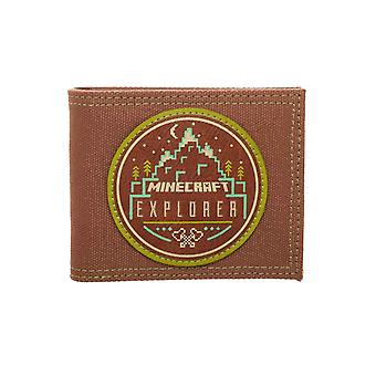 Minecraft Wallet Explorer Logo new Official Gamer Brown Bifold