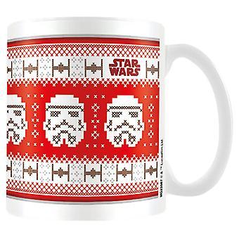 Taza de cerámica de Navidad de Star Wars stormtrooper