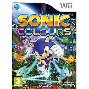 Sonic färger Nintendo Wii spel