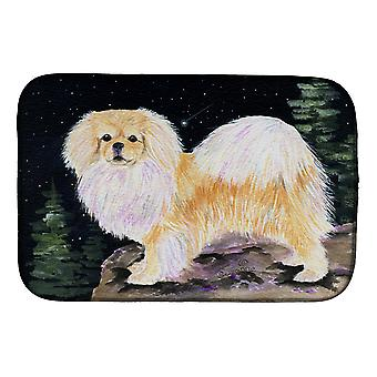 Carolines Treasures  SS8504DDM Starry Night Tibetan Spaniel Dish Drying Mat