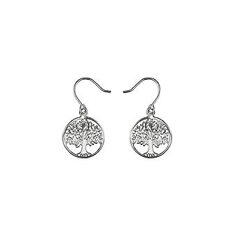 Eternity Sterling Silver Tree Of Life Drop Boucles d'oreilles