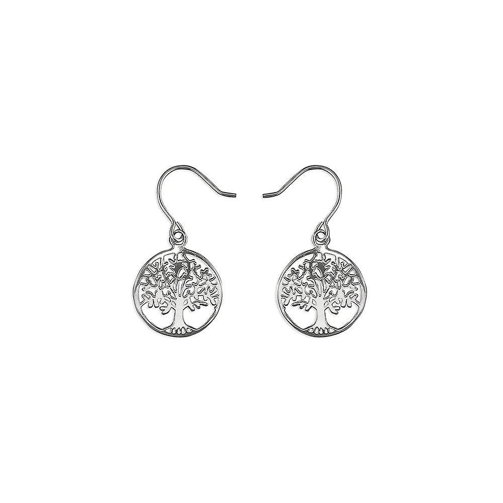 Eternity Sterling Silver Tree Of Life Drop Earrings