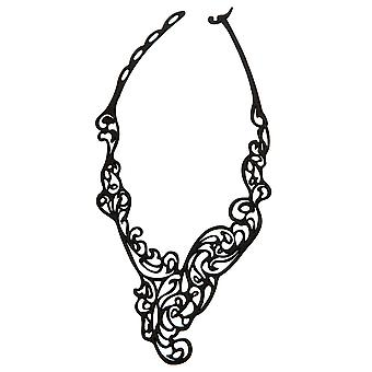 Batucada Skin Jewellery Black Baroco Necklace 6-01-01-01-BLACK