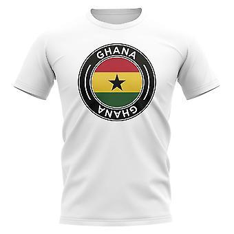 Ghana Football Badge T-Shirt (White)