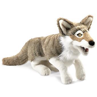 Handpuppe - Folkmanis - Wolf grau neue Tiere weiche Puppe Plüsch Spielzeug 2898