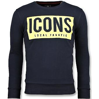 ICONS Block -  Sweater - 6355B - Navy