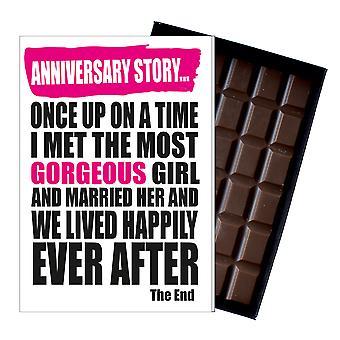 Boda Aniversario Regalo lindo divertido chocolate presente para esposa o socio civil IYF158