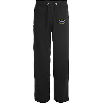 4 PARA 4th Parachute Regiment Wings - Licensed British Army Embroidered Open Hem Sweatpants / Jogging Bottoms