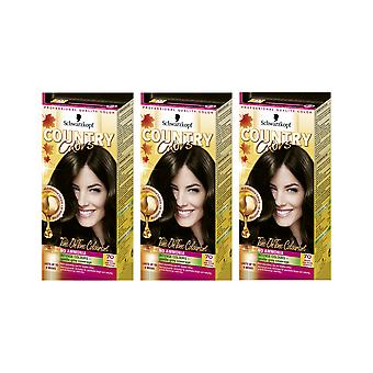 Schwarzkopf Country Colours 70 Brazil Nut Dark Brown Semi-Perm Hair x 3