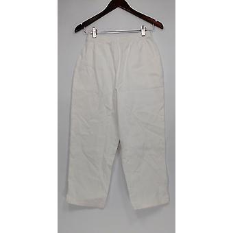 Denim & Co. kvinder ' s bukser original talje stretch afgrøde hvid A14925