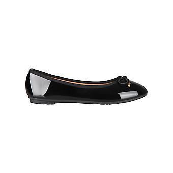 KRISP Women Ladies Bow Toe Plain Patent Flat Ballerina Ballet Pumps Dolly Shoes Size