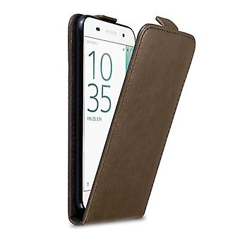 Cadorabo case voor Sony Xperia E5 case cover - Telefoon hoesje in flip design met magnetische sluiting - Case Cover Beschermhoes Case Case Fold Style