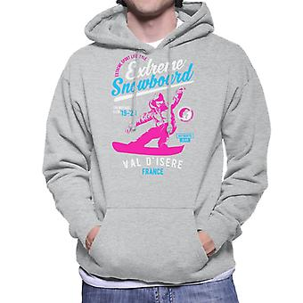 Extreme Snowboard '19 '20 Val D'Isere France Men's Hooded Sweatshirt