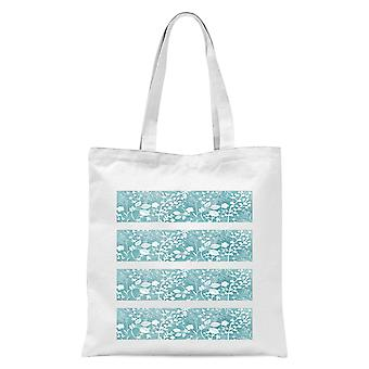 Floral Pattern Tote Bag - White