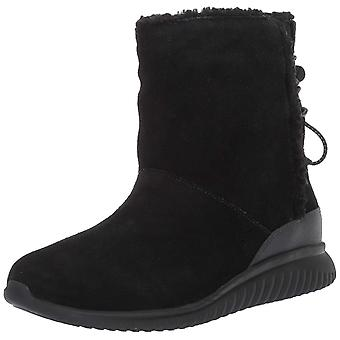 Cole Haan Womens StudioGrand Faux Fur Closed Toe Ankle Cold Weather Boots