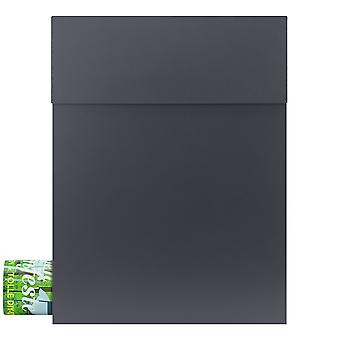 MOCAVI Box 500 Design letterbox with newspaper compartment anthracite (RAL 7016)