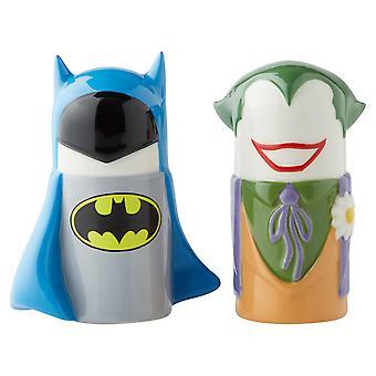 Salz & Papier Shaker - DC Comics - Stilisiert Batman vs Joker Neu 6003729