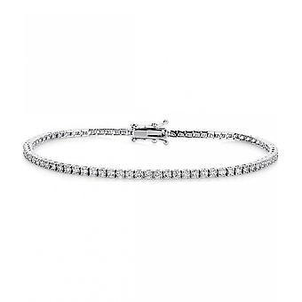 Bracelet bracelet en diamant - 18K 750/- or blanc - 2 ct.