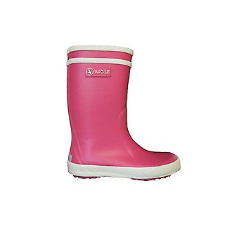 Aigle Lolly Pop Pink Rubber Wellington Boots