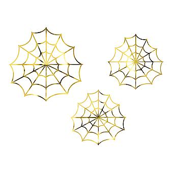 Gouden Spiderwebs Halloween decoraties