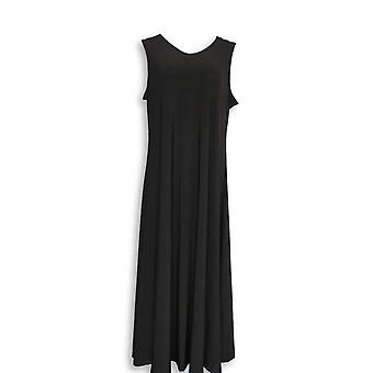 Attitudes by Renee Petite Dress L Como Jersey Pull On Black A347505