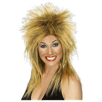 Tina Turner 80s Rocker Wig Ginger And Black