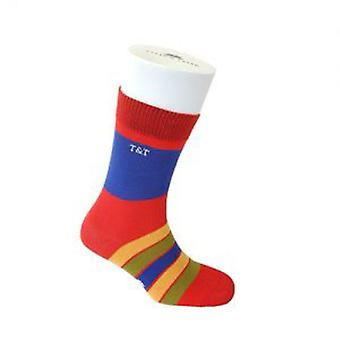 TYLER & TYLER Kaleidoscope Thick Rich Cotton Mens Socks