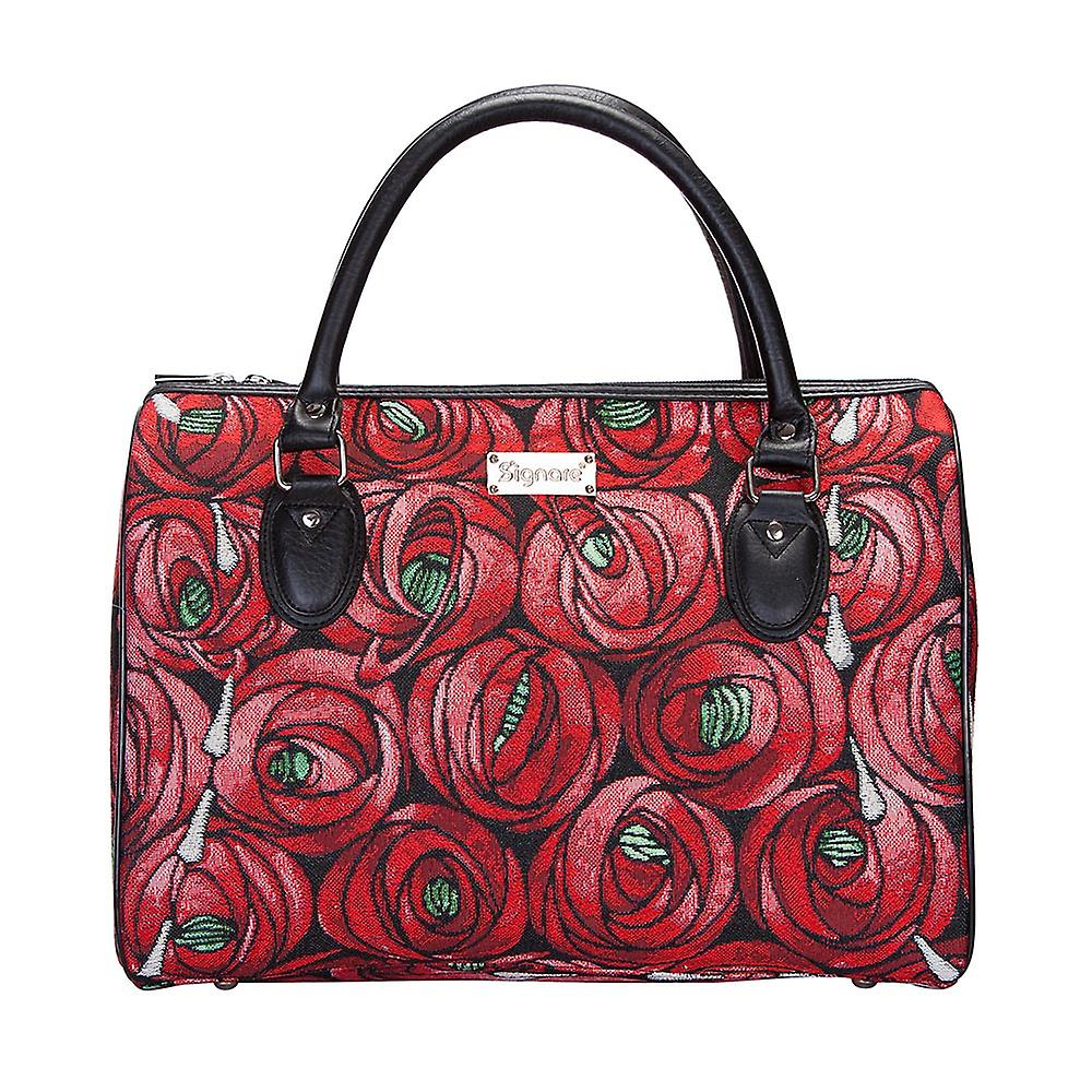 Mackintosh - rose and teardrop weekend travel bag by signare tapestry / trav-rmtd