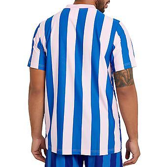 adidas Originals mens ply randig Kortärmad tröja T-shirt topp-blå/Rosa