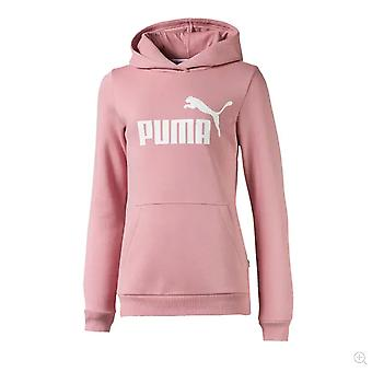 Puma Essentials Logo Kids Girls Over The Head Hoody Hoodie Jacket Bridal Rose