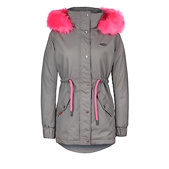Alife e kickin signore inverno parka sporty inverno cappotto flora con pelliccia in taglia pietra XS-L