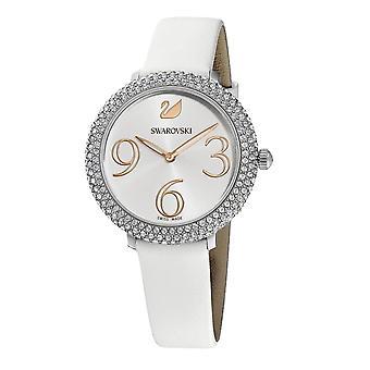 Swarovski Watch 5484070-hvidt silke armbånd lunette Micro-Pav Cadran Sunbeam kvinder