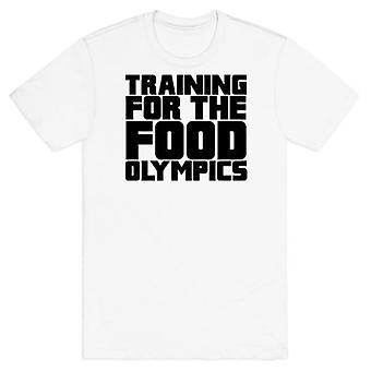 Entraînement pour les jeux olympiques de la nourriture t-shirt blanc