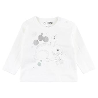 Fixoni White Girls T-Shirt Lapin