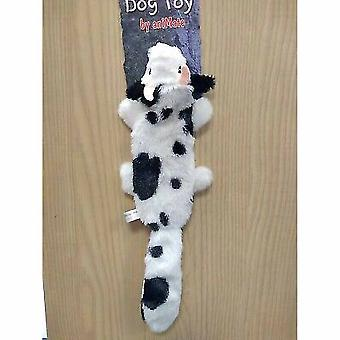 Animate Cow Flat Friend Dog Toy