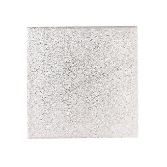 "Culpitt 16"" (406mm) Single Thick Square Turn Edge Cake Cards Silver Fern (1,75mm di spessore) Boxed 25"